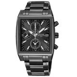 Pulsar Men's PF8137 Chronograph Black Ion Plated Stainless Steel Watch