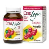 """Cran-Logic, Cranberry Extract Plus Probiotics 60 Capsules, Wakunaga Kyolic"""