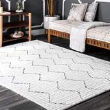 """nuLOOM Sheilah Hand Tufted Area Rug, 9' 6"""" x 13' 6"""", White"""