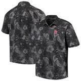 Men's Tommy Bahama Black Oklahoma Sooners Fuego Floral Silk Camp Shirt