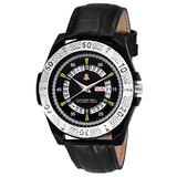 Golden Bell (Label) Men's Starboy Day and Date Calender Function Chronograph Dial Black Strap Watch