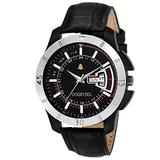 Golden Bell (Label) Men's Ardent Day and Date Calender Function Chronograph Dial Black Strap Watch