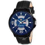 Golden Bell (Label) Men's Abyss Day and Date Calender Function Chronograph Dial Black Strap Watch