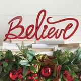 "Christmas Script ""Believe"" - Grandin Road"