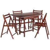 Winsome Taylor Drop-Leaf Table and Chairs 5-piece Set, Med Brown