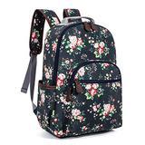Leaper Floral Waterproof School Backpack Travel Bag Bookbags Satchel Daypack