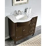 """Darby Home Co Davian 38"""" Single Bathroom Vanity Set Wood/Marble Top in Black/Brown, Size 36.0 H x 38.0 W x 22.0 D in   Wayfair"""