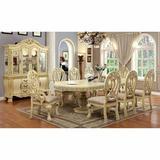 "Astoria Grand Wisser 46"" Double Pedestal Dining Table Wood in White, Size 30.5 H in | Wayfair FB0A0C5C2A454324B3622A9CF6025F0A"