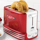 Nostalgia Retro Wide 2-Slice Toaster in Red, Size 7.48 H x 6.57 W x 11.1 D in | Wayfair RTOS200