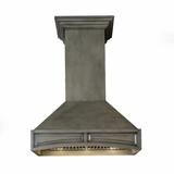 "ZLINE Kitchen and Bath 30"" Hand-Crafted Designer Wood Wall Mount Range Hood Wood in White, Size 31.5 H x 30.0 W x 22.0 D in | Wayfair 321TT-RD-30"