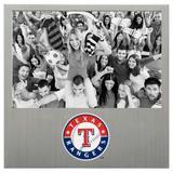 """Texas Rangers 4"""" x 6"""" Aluminum Picture Frame"""