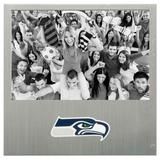 """Seattle Seahawks 4"""" x 6"""" Aluminum Picture Frame"""