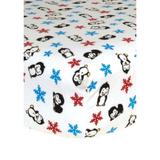 Trend Lab White Winter Fitted Crib Sheet