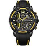 MEGIR Men's Sport Watches Soft Silicone Strap Chronograph Quartz Watch for Man Luminous Waterproof Army Style Wrist Watch