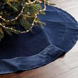 Signature Velvet Tree Skirt Stone - Ballard Designs