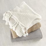 Organic Rope Fringe Throw Ivory - Ballard Designs