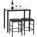 Dining Set Dining Kitchen Table Rectangular Marble Breakfast Wood Dining Room Table Set Table and Chair for 2