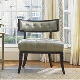 "Lexington Kensington Place 28"" Wide Tufted Down Cushion Side Chair in Black/Brown/Gray, Size 33.5 H x 28.0 W x 27.0 D in | Wayfair 01-1679-11-LL-40"