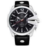 Golden Men Watches Top Luxury Popular Brand Watch Man Quartz Watches Gold Clock Men Wrist Watch (Silver Black)