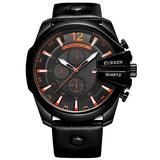 Golden Men Watches Top Luxury Popular Brand Watch Man Quartz Watches Gold Clock Men Wrist Watch (Black Black)
