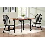 Sunset Trading Black Cherry Selections Dining Table Set, Small, Two Sizes, Distressed Antique rub