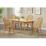 Sunset Trading Oak Selections Dining Table Set, Large/Two Sizes, Light Finish