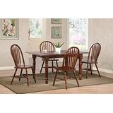 Sunset Trading Andrews Dining Table Set, Large, Two Sizes, Distressed chestnut finish