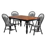 Sunset Trading Black Cherry Selections Dining Table Set, Large, Two Sizes, Distressed Antique