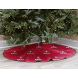 Red San Francisco 49ers Micro Plush Christmas Tree Skirt