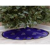 Purple Baltimore Ravens Micro Plush Christmas Tree Skirt