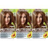 Garnier Hair Color Nutrisse Ultra Coverage Nourishing Hair Color Creme, Deep Dark Natural Blonde (Candied Cashew) 700 , Pack of 3