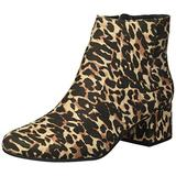 Kenneth Cole REACTION Women's Road Stop Ankle Boot, Leopard, 6.5