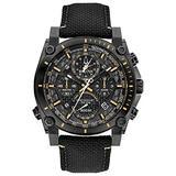 Bulova Precisionist Chronograph Mens Watch, Stainless Steel with Black Nylon Strap, Black (Model: 98B318)