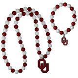 NCAA Siskiyou Sports Womens Oklahoma Sooners Fan Bead Necklace and Bracelet Set One Size Team Color