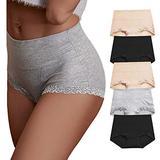 OPIBOO Women's Cotton Underwear,Soft Underwear Women Briefs,Ladies Comfort Breathable Underpants Panties (Multicoloured 4, X-Large, x_l)