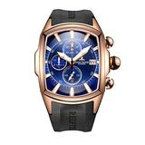Reef Tiger Mens Luxury Sport Watches Mens Big Military Watches Rose Gold Waterproof Watches RGA3069-T (NRGA3069-T-PLB)