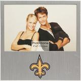 """New Orleans Saints 4"""" x 6"""" Aluminum Picture Frame"""