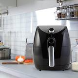 Continental Electric 3.38 Liter Adjustable Temperature Control Air Fryer Plastic in Black, Size 13.85 H x 12.75 W x 12.75 D in | Wayfair PS-DF329