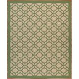 Longshore Tides Emilia Flatweave Beige/Green Rug Polypropylene in Brown/Green/White, Size 72.0 H x 48.0 W x 0.2 D in | Wayfair