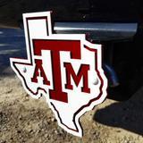 """""""Texas A&M Aggies Premium Steel Hitch Cover"""""""