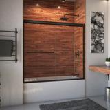 "Arizona Shower Door Ete 72"" x 57.38"" Bypass Semi-Frameless Tub Door Tempered Glass in Brown, Size 57.375 H in   Wayfair ET17257AOBCLR"