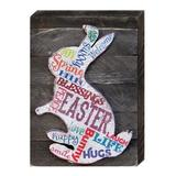 Designocracy Easter Bunny Wall Decor Wood in Brown, Size 8.0 H x 6.0 W x 2.0 D in | Wayfair 98717