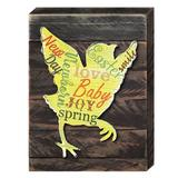 Designocracy Baby Chick Easter Wall Decor Wood in Brown, Size 18.0 H x 12.0 W x 2.0 D in | Wayfair 98716-18