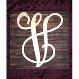 aMonogram Art Unlimited Monogram Letter Mounted on Rustic Wood Board Wall Decor Wood in Brown/White, Size 8.0 H x 6.0 W in   Wayfair 9551$-08