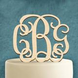 aMonogram Art Unlimited 3 Letter Cake Topper Wood in Red | Wayfair 94101P-geranium