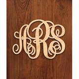 Winston Porter 3-Letter Script Monogram Wall Decor in Brown, Size 15.0 H x 18.0 W in | Wayfair A6DFC58B12F844CD8972BDD24BEF5A70