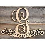 aMonogram Art Unlimited Wooden Ampersand Decorated Monogram Letter Wall Decor Wood in Brown, Size 15.0 H x 16.0 W in | Wayfair 91306&16