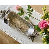 Arthur Court Designs Magnolia Serving Tray Metal in Gray, Size 24.5 W in   Wayfair 102220