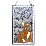 Astoria Grand Tiffany Glass Window Panel, Size 31.0 H x 18.0 W x 0.0063 D in   Wayfair ASTG8679 38017261