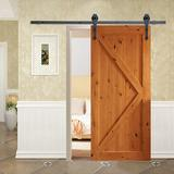 Calhome Vintage Arrow Sliding Standard Single Barn Door Hardware Kit in Black, Size 72.0 W in | Wayfair SDH-TSQ08-MK-72